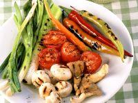 Gegrilltes Gemüse mit Aioli