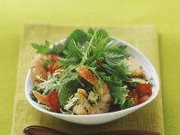 Gemischter Salat mit Shrimps