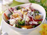 Gemüse-Eier-Salat