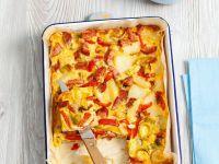 Gemüse-Frittata mit Wurst