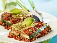 Gemüse-Hackfleisch-Lasagne