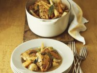 Gemüse-Hühnchen-Topf mit Pfifferlingen