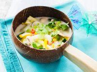 Gemüse-Kokosmilch-Suppe