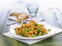 Gemüse mit Pfifferlingen