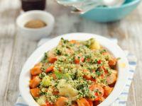 Gemüseauflauf mit Wiener Würstchen
