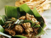 Geschmortes Rind auf indische Art