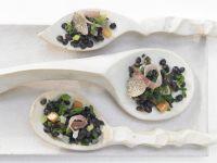 belugalinsen salat mit jakobsmuscheln rezept eat smarter. Black Bedroom Furniture Sets. Home Design Ideas
