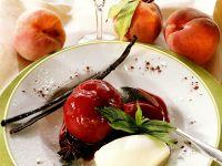 Gewürzpfirsiche mit Portwein
