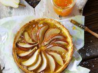 Glasierter Birnenkuchen