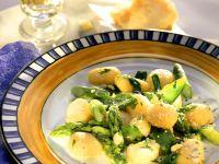Gnocchi mit grünem Spargelragout
