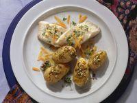 Goldbarsch mit Ofenkartoffeln