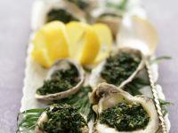 Gratinierte Austern mit Spinat