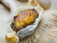Gratinierte Süßkartoffel mit Lachs