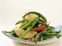 Grüne-Bohnen-Apfel-Salat