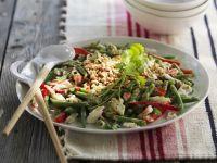 Grüne Bohnen-Krabben-Salat