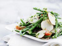 Grüne Bohnen-Salat mit Topinamburscheiben