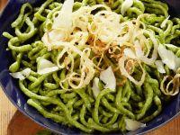 Grüne Spätzle mit Parmesan