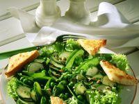 Grüner Gemüsesalat mit Käseecken