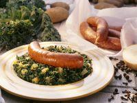 Grünkohl mit Kartoffeln und Pinkel
