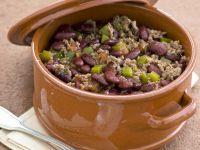 Hackfleisch-Bohnen-Eintopf mit grüner Paprika