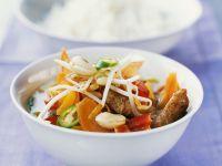 Hähnchen-Kokoscurry mit Gemüse