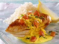 Hähnchen mit Currysauce