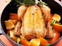 Hähnchen mit Paprika-Orangengemüse