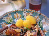 Hähnchen mit Rotweinsauce