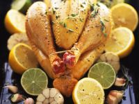 Hähnchen mit Zitronen und Limetten
