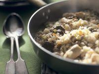 Hähnchen-Risotto mit Kalbfleisch