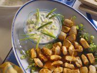Hähnchen-Spieße mit Joghurtdip