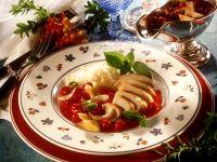 Hähnchenbrust mit fruchtiger Sauce