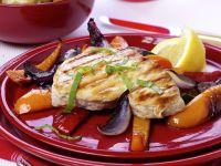 Hähnchenbrust mit Gemüse vom Grill