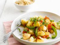 Hähnchenbrust mit Paprika und Ananas