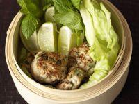 Hähnchenbulette mit Salat