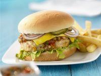 Hähnchenburger mit Salsa-Soße