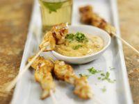 Hähnchenspieße (Satay) mit Erdnussdip