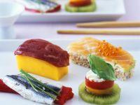 Häppchen nach Sushi-Art