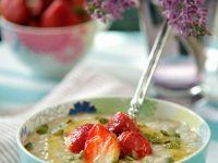 Haferbrei mit Erdbeeren