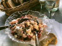 Herings-Kartoffel-Salat mit Gurke und Roter Bete
