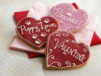 Herz-Plätzchen zum Valentinstag