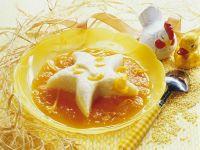 Hirsepudding mit Fruchtsoße