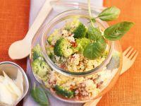 Hirsesalat mit Brokkoli