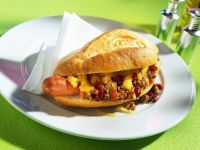 Hotdog mit Hackfleisch