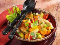 Hühnchen-Apfel-Salat