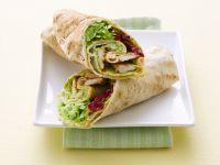 Hühnchen-Wraps mit Roter Bete und Avocado