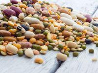 Hülsenfrüchte in verschiedenen Farben