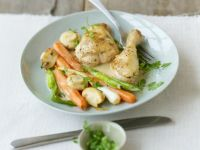 Huhn in Riesling-Sauce