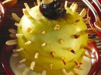 Igel-Äpfel mit Plaumenfüllung