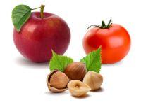 Äpfel, Tomaten, Nüsse - Lebensmittel für Frutarier